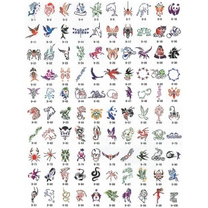 Paasche SB-9 Tattoo Stencil Design Book