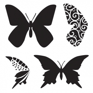 "The Crafter's Workshop 6"" x 6"" Design Template Butterfly; Color: Clear; Size: 6"" x 6""; Type: Patterned Stencil; (model TCW291S), price per each"