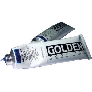 Golden® Heavy Body Historical Hue Acrylic 2 oz. Azurite Hue; Color: Blue; Format: Tube; Size: 2 oz, 59 ml; Type: Acrylic; (model 0001464-2), price per tube