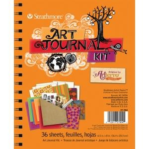 "Strathmore® Orange Art Journal Kit; Binding: Wire Bound; Color: Orange; Format: Journal; Quantity: 36 Sheets; Size: 6 1/2"" x 8""; (model ST27-904), price per each"