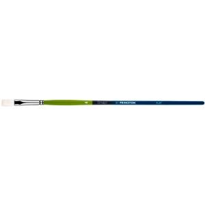 Princeton™ Snap! White Taklon Long Handle Brush Watercolor and Acrylic Brush Flat 10: Long Handle, Taklon, Flat, Acrylic, Watercolor, (model 9800F-10), price per each