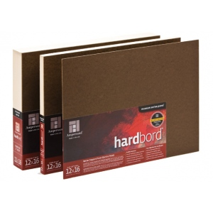 "Ampersand 1/8"" Flat Hardbord: 12"" x 24"" , Pack of 12"