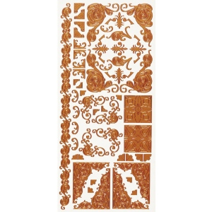 "Dazzles™ Stickers Copper Corners; Color: Metallic; Size: 4"" x 9""; Type: Outline; (model HOTP1579), price per each"