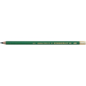 Kimberly® Drawing Pencil 4B; Color: Black/Gray; Degree: 4B; Type: Drawing; (model 525G-4B), price per dozen (12-pack)