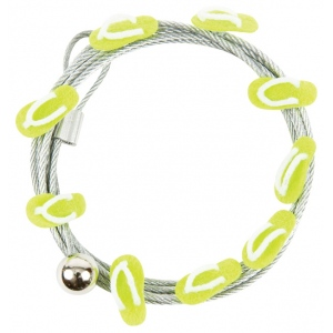 """Mishu Mighty Magnet Photo Cable Green Flip-Flop; Color: Yellow; Length: 57""""; Shape: Flip Flop; Type: Cable; (model M898), price per each"""