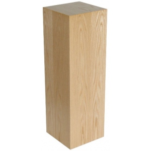 "Xylem Oak Wood Veneer Pedestal: 18"" X 18"" Size, 12"" Height"