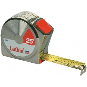 Lufkin® 2000 Series 25' Power Tape Measure; Color: Yellow; Size: 25'; Type: Tape Measure; (model L2125), price per each