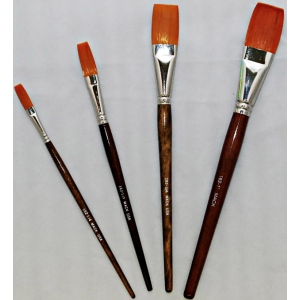 Mack Golden Taklon One Stroke Lettering Brush Series 162: #1/2, Length 1-1/16""