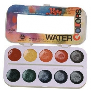 Yarka® 10-Color Watercolor Paint Set; Color: Multi; Format: Pan; Type: Watercolor; (model YK38010), price per set