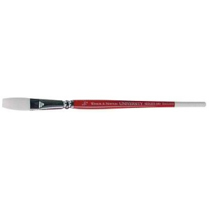 "Winsor & Newton™ University Series 680 One Stroke Short Handle Brush 1/8""; Length: Short Handle; Material: Nylon; Style: One Stroke; Type: Acrylic, Oil, Watercolor; (model WN5460103), price per each"