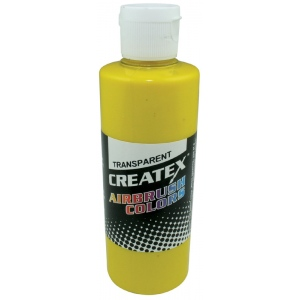 Createx™ Airbrush Paint 2oz Brite Yellow; Color: Yellow; Format: Bottle; Size: 2 oz; Type: Airbrush; (model 5114-02), price per each