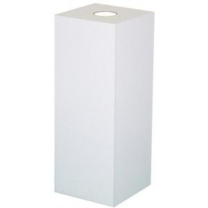 "Xylem White Laminate Spot Lighted Pedestal: Size 15"" x 15"", Height 18"""