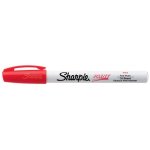Sharpie® Oil Paint Marker Fine Red; Color: Red/Pink; Ink Type: Paint; Tip Type: Fine Nib; (model SN35535), price per each