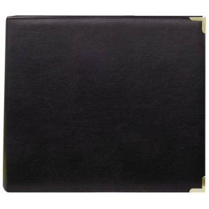 "Pioneer® 12 x 12 3-Ring Scrapbook Binder Black Oxford; Color: Black/Gray; Material: Leatherette; Size: 12"" x 12""; (model TM12BLOX), price per each"