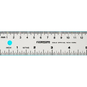 "Fairgate® Aluminum English/Metric Ruler; Color: Metallic; Material: Aluminum; Size: 40""; Type: Ruler; (model MS-100), price per each"