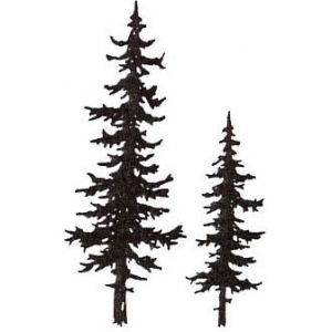 Sarasota Stamps Mounted Rubber Stamp Pine Trees; Material: Rubber; Mounted: Yes; (model SSB-3454), price per each