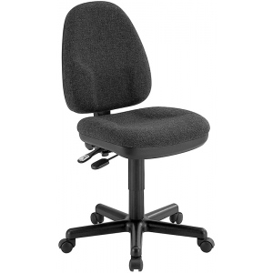 "Alvin® Black High Back Office Height Monarch Chair; Arm Rest Included: No; Color: Black/Gray; Foot Ring Included: No; Height Range: Under 24""; Seat Material: Fabric; (model CH555-40), price per each"