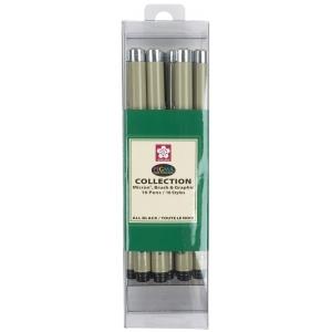 Pigma® Micron® Black Fine Line Design Pen 16-Pack; Color: Multi; Ink Type: Pigment; Tip Size: .005mm, .01mm, .02mm, .03mm, .05mm, .08mm, 1mm, 2mm, 3mm; Tip Type: Fine Nib; (model 50076), price per set