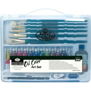 Royal & Langnickel® Essentials™ Clear View Oil Painting Set; Color: Multi; Type: Oil; (model RSET-ART3201), price per set