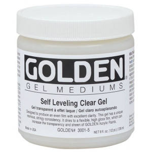 Golden® Self Leveling Clear Gel Medium 8 oz.; Size: 236 ml, 8 oz; Type: Gel; (model 0003001-5), price per each