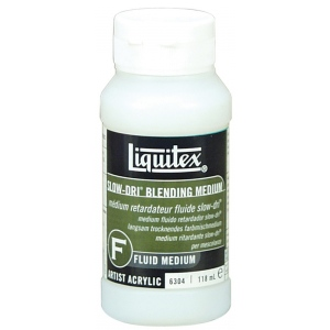 Liquitex® Slow-Dri® Blending Medium 4oz: 4 oz, Acrylic Painting, (model 6304), price per each
