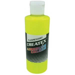 Createx™ Airbrush Paint 2oz Fluorescent Yellow; Color: Yellow; Format: Bottle; Size: 2 oz; Type: Airbrush; (model 5405-02), price per each