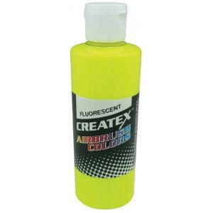 Createx™ Airbrush Paint 2oz Fluorescent Yellow: Yellow, Bottle, 2 oz, Airbrush, (model 5405-02), price per each