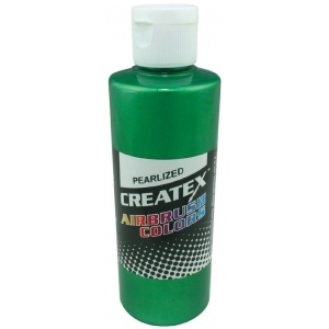 Createx™ Airbrush Paint 4oz Pearlescent Green; Color: Green; Format: Bottle; Size: 4 oz; Type: Airbrush; (model 5305-04), price per each