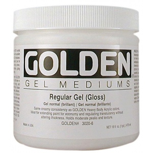 Golden® Regular Gel Medium Gloss 16 oz.: Matte, 16 oz, 473 ml, Gel, (model 0003020-6), price per each