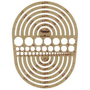 "Pickett® Circle Radius Master Template: 3/64"" - 7 1/2"", (model 1202I), price per each"