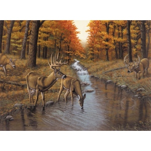 "Royal & Langnickel® Painting by Numbers™ 12 3/4 x 15 3/4 Adult Set Symond's Creek-so; Board Size: 12 3/4"" x 15 3/4""; (model PAL23), price per set"