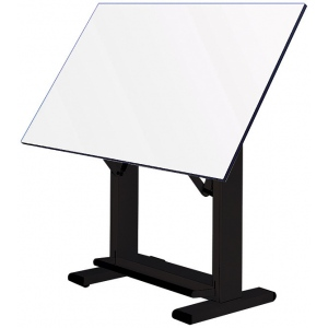 "Alvin® Elite Table Black Base White Top 37.5"" x72"": 0 - 85, Black/Gray, Steel, 38"" - 45"", White/Ivory, Melamine, 37 1/2"" x 72"", (model ET72-3), price per each"