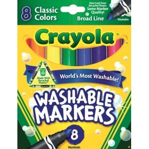 Crayola® Classic Marker Broad Line 8-Color Set; Color: Multi; Type: Washable; (model 58-7808), price per set