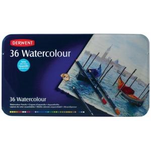 Derwent Watercolor Pencil 36-Color Tin Set; Color: Multi; Type: Watercolor; (model 32885), price per set