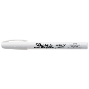 Sharpie® Oil Paint Marker Extra Fine White; Color: White/Ivory; Ink Type: Paint; Tip Type: Fine Nib; (model SN35531), price per each