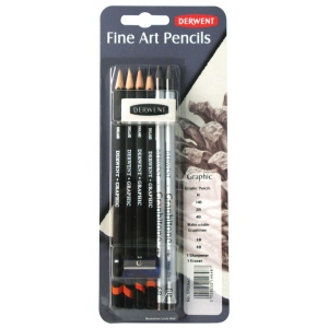 Derwent Graphic Pencil Mixed Media Set; Color: Black/Gray; Type: Drawing; (model 0700661), price per set