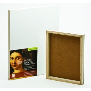 "Ampersand Traditional Profile 3/4"" Cradled Artist Panel: 9"" x 12"", Case of 5"