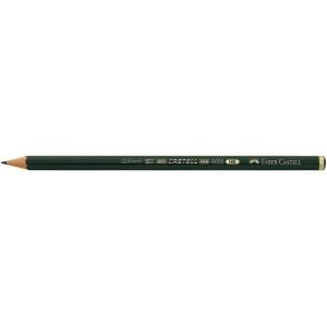 Faber-Castell® 9000 Black Lead Pencil 4H: Black/Gray, 4H, (model FC119014), price per dozen (12-pack)