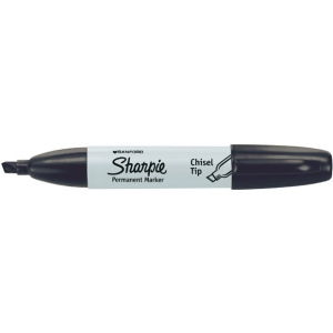 Sharpie® Chisel Tip Black Permanent Marker; Color: Black/Gray; Tip Type: Chisel Nib; (model SN38201), price per each