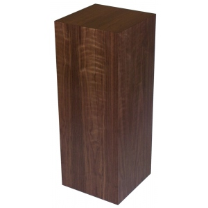 "Xylem Walnut Wood Veneer Pedestal: 15"" X 15"" Size, 18"" Height"