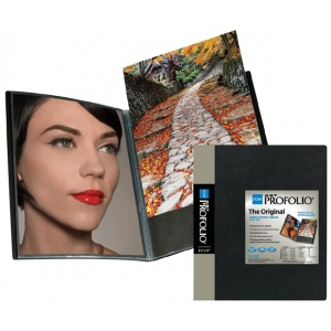 "Itoya® Art Profolio® ; Color: Black/Gray; Material: Polypropylene; Page Count: 24 Pages; Size: 8 1/2"" x 11""; (model IA128), price per each"
