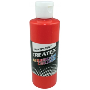 Createx™ Airbrush Paint 4oz Sunset Red; Color: Red/Pink; Format: Bottle; Size: 4 oz; Type: Airbrush; (model 5118-04), price per each