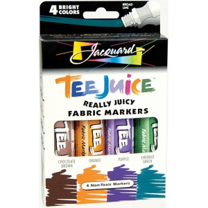 Jacquard Tee Juice™ Fabric Marker Set 2; Color: Multi; Format: Marker; Type: Fabric; (model PENBX02), price per set