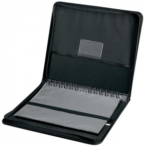 "Prestige™ Elegance™ Series Presentation Case 18 x 24; Color: Black/Gray; Material: Vinyl; Page Count: 10 Pages, 10 Protective Sleeves; Size: 18"" x 24""; (model PCA1824), price per each"