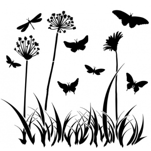 "The Crafter's Workshop 12"" x 12"" Design Template Butterfly Meadow; Size: 12"" x 12""; Type: Patterned Stencil; (model TCW197), price per each"