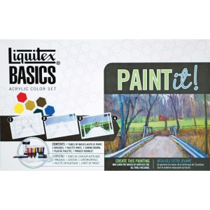Liquitex® Basics Paint It! Acrylic Color Paint It! Set; Color: Multi; Format: Tube; Size: 22 ml, 75 ml; Type: Acrylic; (model 101084), price per set