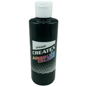 Createx™ Airbrush Paint 8oz Opaque Black: Black/Gray, Bottle, 8 oz, Airbrush, (model 5211-08), price per each