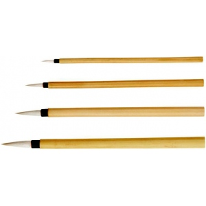 Princeton™ Bamboo Brush Round 8; Material: Natural; Shape: Round; Type: Calligraphy, Watercolor; (model 2150B-8), price per each