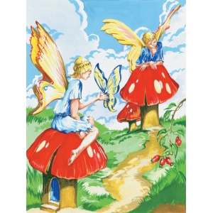 "Royal & Langnickel® Painting by Numbers™ 8 3/4 x 11 3/8 Junior Small Set Flower Fairy: 8 3/4"" x 11 3/8"", (model PJS20), price per set"