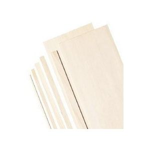 """Alvin® 4"""" Wide Balsa Wood Sheets 1/32""""; Format: Sheet; Quantity: 20 Sheets; Size: 4"""" x 36""""; Thickness: 1/32""""; (model BS1141), price per 20 Sheets"""